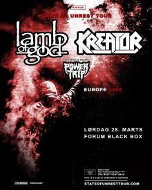 Lamb of God + Kreator i Forum Black Box  28. marts