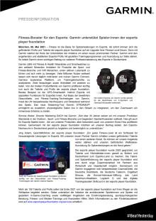 Fitness-Booster für den Esports: Garmin unterstützt Spieler:innen der esports player foundation