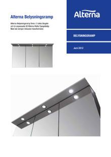 Alterna belysningsramp - Produktblad