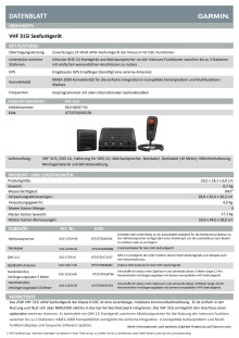 Datenblatt Garmin VHF315i
