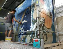 Upeart Festival 2019 tuo Mikkeliin näyttävän muraalin kahden taiteilijan voimin