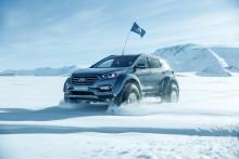 Krysset Sydpolen i en bil laget for vanlig gatekjøring