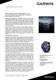 MARQ Captain American Magic Edition : une montre d'exception qui vient étoffer la collection haut-de-gamme de Garmin.