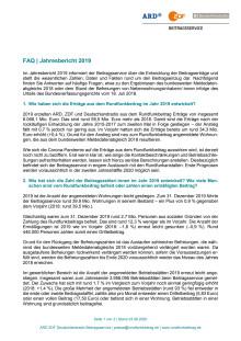 Fragen und Antworten zum Jahresbericht 2019