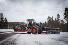 Hitachin kraftfull snöröjare på Dala-vägarna