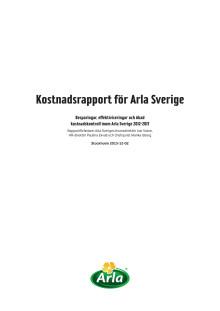 Kostnadsrapport för Arla Sverige