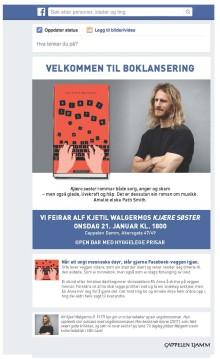 """Invitasjon: Alf Kjetil Walgermo lanserer sin nye roman """"Kjære søster"""""""