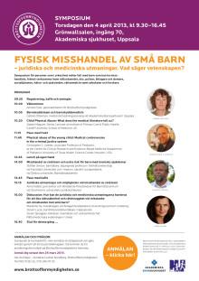 Symposium: Fysisk misshandel av små barn -juridiska och medicinska utmaningar. Vad säger vetenskapen?