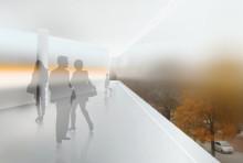 """Cloud Cube – utställning av idéskiss för """"Framtidens Akademiska"""""""