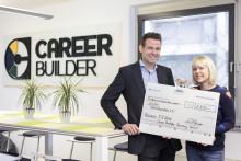 CareerBuilder hilft – und Kunden helfen mit: Gelungener Jahresendspurt kommt Sternstunden e.V. zugute