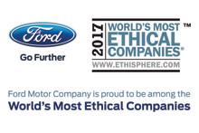 Ford ett av världens mest etiska företag för åttonde året i rad