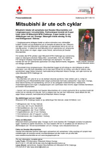 Mitsubishi är ute och cyklar