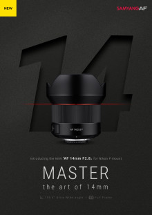 SAMYANG launcht Autofokus Ultraweitwinkel-Objektiv AF 14mm F2.8 für Nikon F-Mount