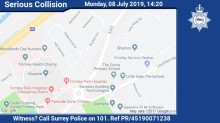Witness appeal following serious collision in Frimley