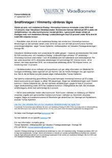 Värdebarometern 2017 Vimmerbys kommun
