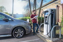 Electric vehicle charge points at supermarkets double in two years