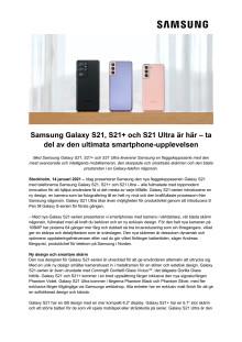 Samsung Galaxy S21, S21+ och S21 Ultra är här – ta del av den ultimata smartphone-upplevelsen