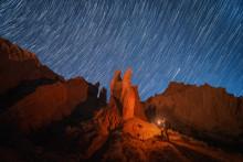 Astrofotograaf Albert Dros verlicht de nacht