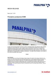 Panalpina postpones EGM