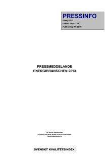 Svenskt Kvalitetsindex om Energibranschen
