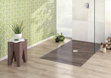 Formschöne Dusche. Starke Dekore. – ViPrint Duschböden mit glasiertem Rand