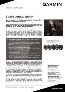 Leidenschaft neu definiert: Garmin lanciert die MARQ-Kollektion - Die Premium Tool Watch der nächsten Generation