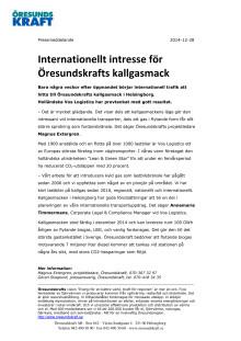 Internationellt intresse för Öresundskrafts kallgasmack