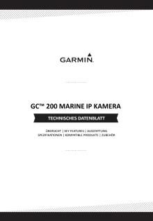 Datenblatt Garmin GC200 Marine Kamera