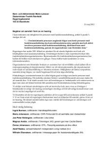 Skrivelsen till statsminister Fredrik Reinfeldt och till Barn- och äldreministern Maria Larsson