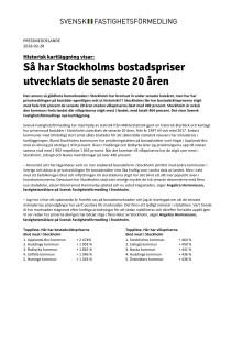 Historisk kartläggning visar: Så har Stockholms bostadspriser utvecklats de senaste 20 åren