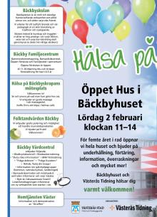 Program Öppet hus i Bäckby 2 februari