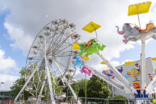 Sveriges största ambulerande Pariserhjul finns i Halmstad