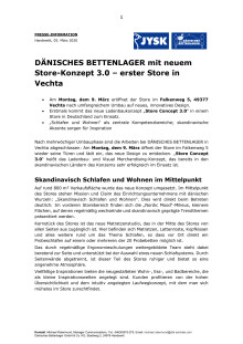 Neues Storekonzept 3.0 - Start in Vechta