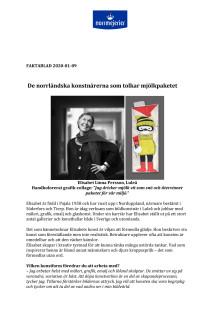 Faktablad: De norrländska konstnärerna som tolkar mjölkpaketet