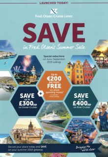 Enjoy special savings in Fred. Olsen Cruise Lines' new 'Summer Sale'
