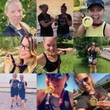 Virtuellt triathlonlopp lockade 500 kvinnor runtom i Sverige