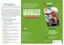 Flyer Duale Studiengänge der Berufsakademie Sachsen – Staatliche Studienakademie Plauen