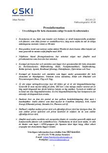 -Utvecklingen för hela ekonomin enligt Svenskt Kvalitetsindex