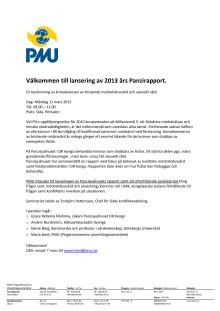 Inbjudan till lansering av Panzirapporten