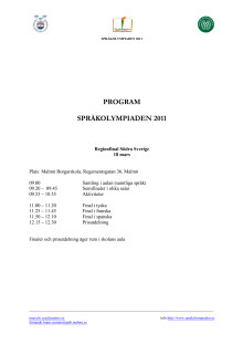 Program för regionfinal i Språkolympiaden