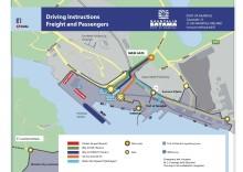 Naantalin Sataman liikennejärjestelyt muuttuvat 4.6.2020 - sujuvuutta ja turvallisuutta satama-alueelle. Finnlinesin rahti- ja matkustajaliikenteen reitit lähtöselvitykseen muuttuvat