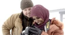Nyanlända svenskar tolkar sin bild av den svenska vintern under ledning av Jens Assur
