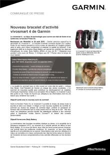 Nouveau bracelet d'activité vívosmart 4 de Garmin