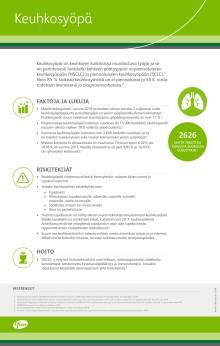 Keuhkosyöpään sairastuu vuosittain lähes 3 000 suomalaista