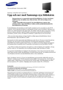 Upp och ner med Samsungs nya bildskärm