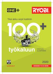 Ryobi ONE+ -työkaluesite 2020
