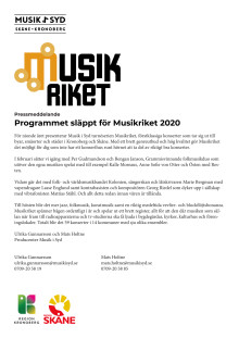 Musikriket 2020