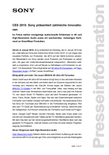 Medienmitteilung_CES 2015_Overview_D-CH_150106