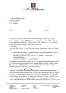 Samferdselsdepartementets vedtak_Kristiansund og Nordmøre havn