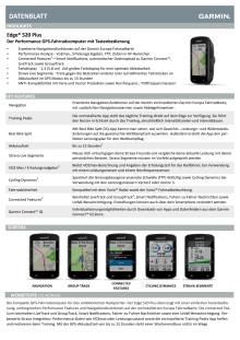 Datenblatt Garmin Edge 520 Plus
